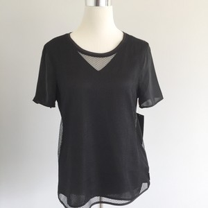 Calvin Klein Mesh Sporty Work To Weekend Basic Elevated Basic T Shirt Black