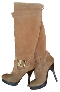 Guess Ski Bunny Platform Stilletto Tan Platforms