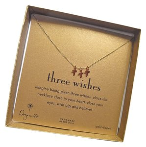Dogeared Dogeared Three Wishes Two-Tone 14K Gold Plated Triple Cross Necklace