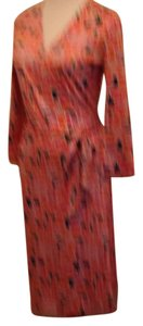 Diane von Furstenberg short dress Black, coral, cream, mauve on Tradesy