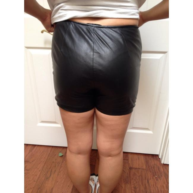 Kenneth Cole Dress Shorts Soft black leather