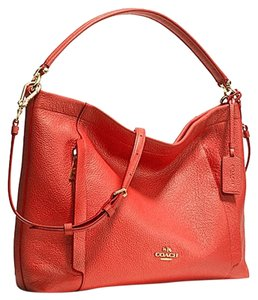 Coach Leather Adjustable Strap Cross Body Bag