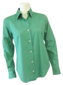 Ralph Lauren Blouse Button Down Shirt Green