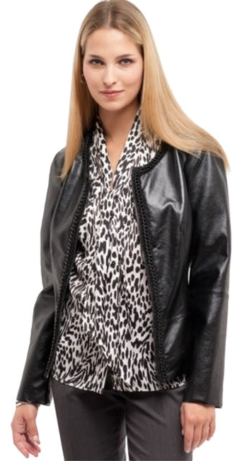 AK Anne Klein Faux Leather black Jacket