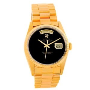 Rolex Rolex President Day Date Mens 18k Yellow Gold Onyx Dial Watch 18238