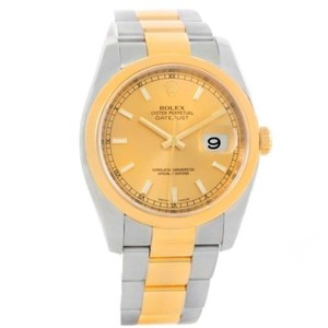 Rolex Rolex Datejust Mens Steel 18k Yellow Gold Oyster Bracelet Watch 116203