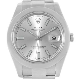 Rolex Rolex Datejust Ii Silver Dial Mens Stainless Steel Watch 116300