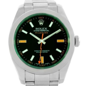 Rolex Rolex Milgauss Black Dial Green Crystal Mens Watch 116400v