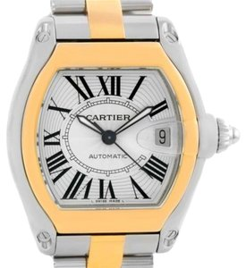 Cartier Cartier Roadster 18k Yellow Gold Stainless Steel Mens Watch W62031Y4