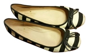 Kate Spade Black/Canvas Flats