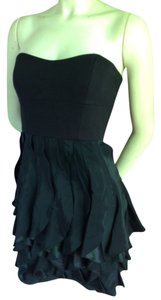 Cynthia Steffe Pencil Ruffle Flounced Silk Wool Strapless Sexy Party Formal Little Lbd Sweetheart Chic Classic 4 Dress