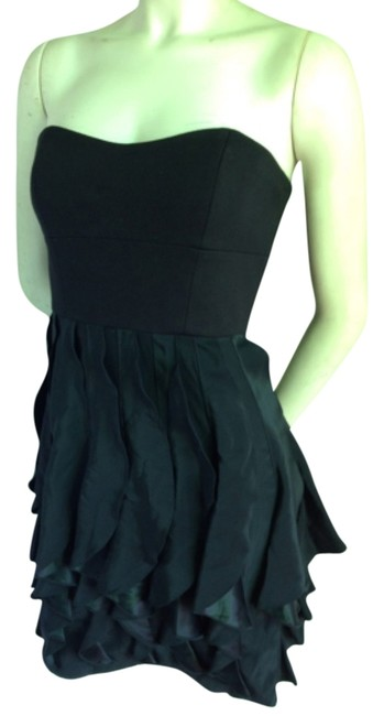 Cynthia Steffe Pencil Ruffle Flounced Silk Wool Strapless Sexy Party Formal Cocktail Little Lbd Sweetheart Chic Classic 4 Dress