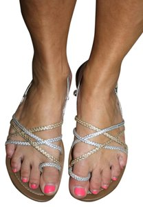 Rocket Dog Silver and Gold Sandals
