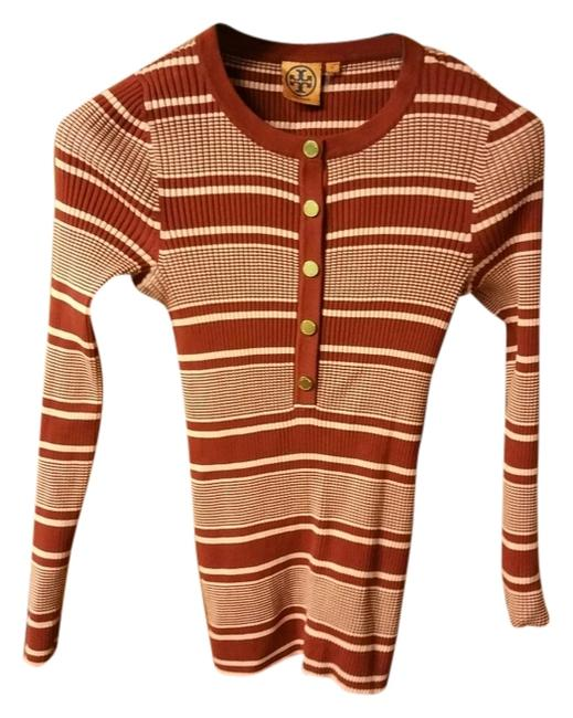 Preload https://item1.tradesy.com/images/tory-burch-redpink-sweaterpullover-size-8-m-5163820-0-0.jpg?width=400&height=650