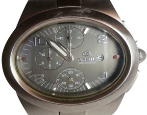 Breil Stainless Steel Men's Chronograph Watch with Unique Sideways Oval Face w/ Extra Link