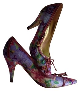 Etro Floral Velvet Multi Pumps