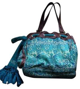 Juicy Couture Tote in Blue tone print