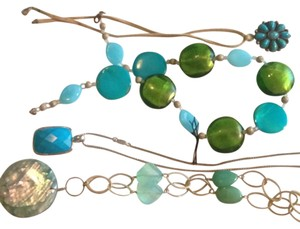 Target 4 Assorted Blue Green Necklaces