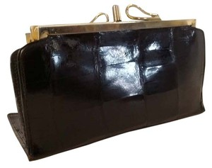 Genuine Black Alligator Double Fold Wallet with 2 Coin Purses