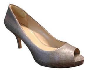 Vince Camuto Print Shine Leather Platform Silver Formal