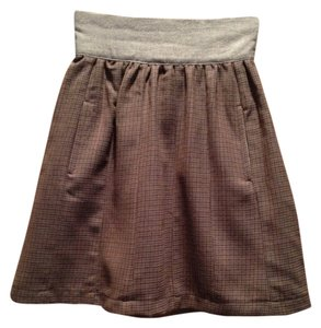 Anthropologie Mini Mini Skirt Olive green
