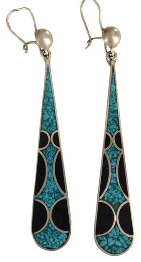 Preload https://item5.tradesy.com/images/turquoiseonyx-vintage-inlaid-drop-earrings-5165224-0-0.jpg?width=440&height=440