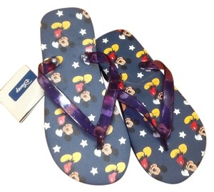 Disney Flip Flops 7 1/2 Summer Navy blue Sandals