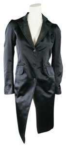 Jil Sander Quilted Silk Button Blazer Coat