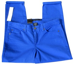 Calvin Klein Nwt New Royal Capri/Cropped Denim-Coated
