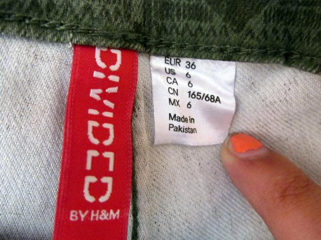 Divided by H&M Azctec Light Comfortable Military Skinny Pants green