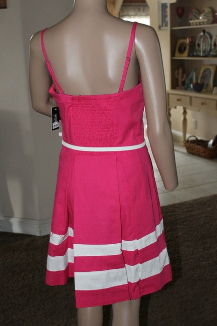 Guess short dress bright pink and white on Tradesy