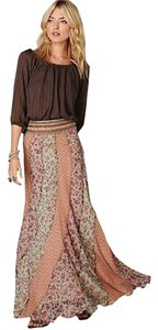 Free People Flowy Maxi Skirt Multi, Floral
