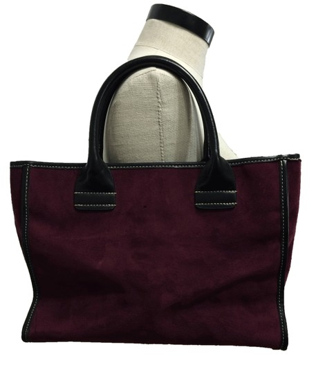 Saks Fifth Avenue Suede Purse Leather Shoulder Bag