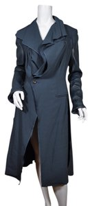 Todd Lynn Leather Wool Couture Luxury Consignment Nyc Mindycara Designer Spring Trench Coat