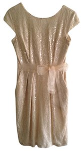 Alex Evenings Sequin Lace Belted Classic Dress