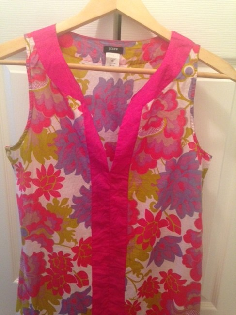 J.Crew short dress Pink Multi Color Cover Up on Tradesy
