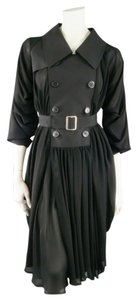 COMME des GARÇONS short dress black Draped Avant Garde Junya Watanabe Oversized Japanese on Tradesy