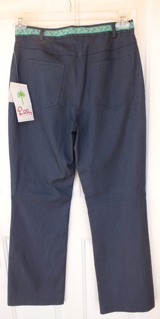 Lilly Pulitzer New Anchors Nautical Straight Pants grey, green, blue