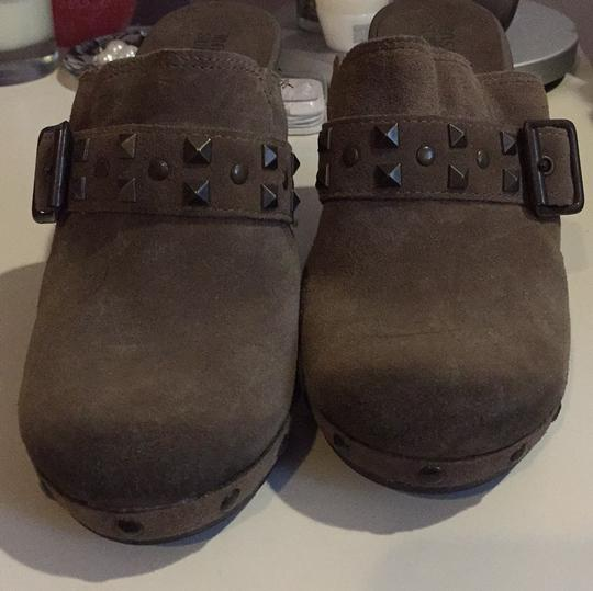 Mossimo Supply Co. Suede Studded Grey Mules