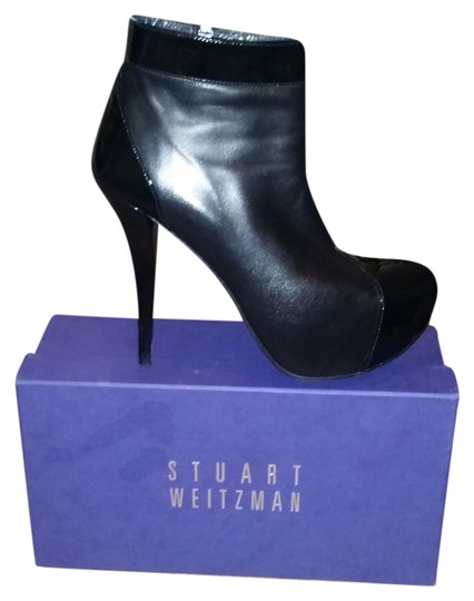 Preload https://img-static.tradesy.com/item/5167000/stuart-weitzman-black-leather-and-patent-stiletto-bootsbooties-size-us-85-regular-m-b-0-0-540-540.jpg