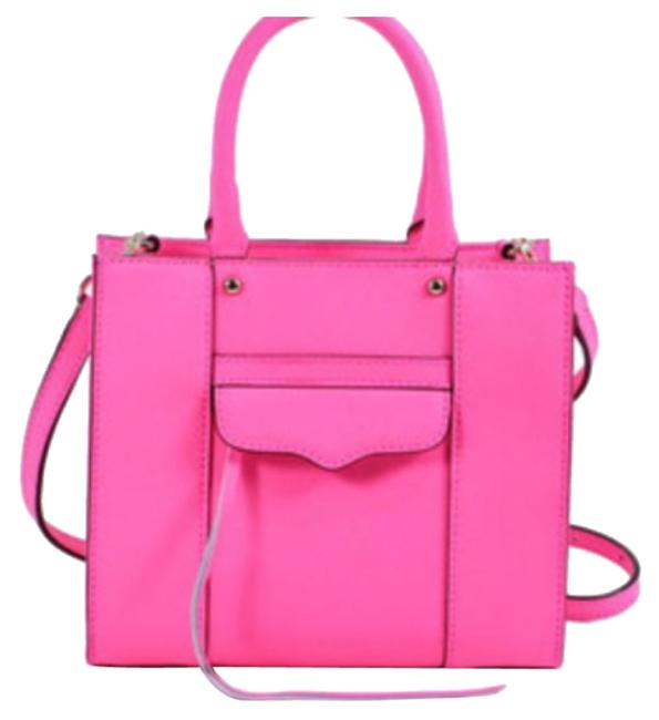 Item - Mini Electric Pink Leather Tote