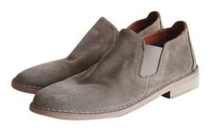 Vince Suede Ankle Flat Bootie Boot Taupe Boots