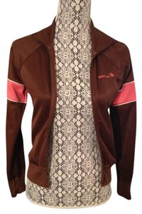 Abercrombie & Fitch Vintage Track Preppy Prep Brown Jacket