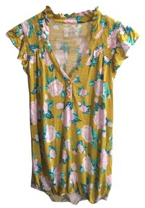 Anthropologie Top Yellow / Multi