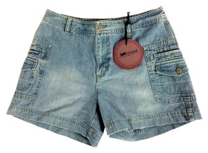 Lee Riveted Leg Pockets Mini/Short Shorts Blue