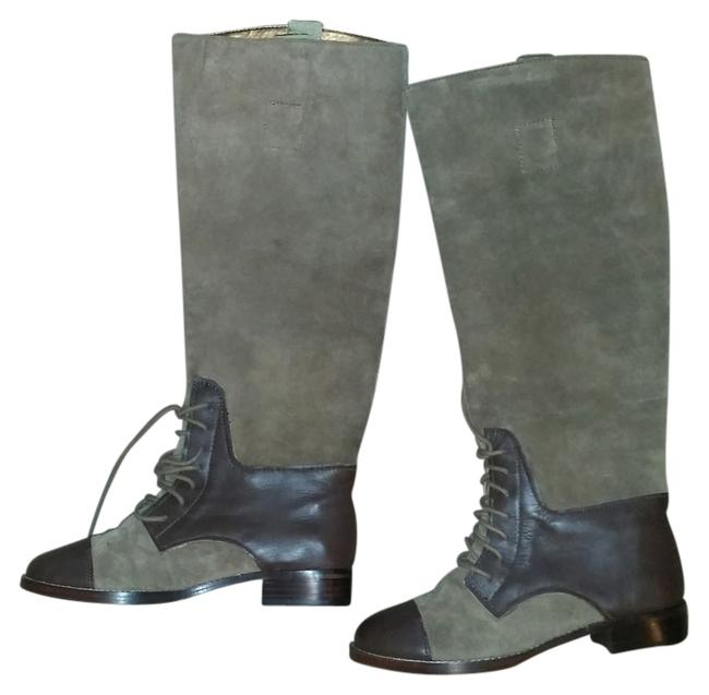 Twelfth St. by Cynthia Vincent Dark Tan Real Leather Riding Type Boots/Booties Size US 7 Regular (M, B) Twelfth St. by Cynthia Vincent Dark Tan Real Leather Riding Type Boots/Booties Size US 7 Regular (M, B) Image 1