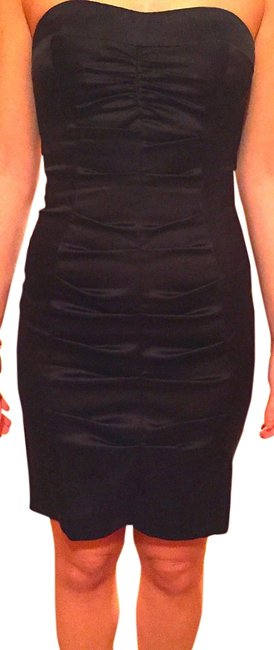 Cache Strapless Sweetheart Rushed Ruched Bodycon Dress