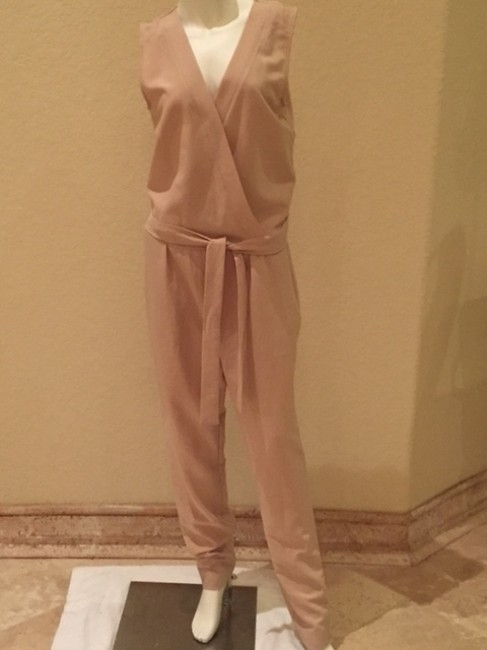 Romeo & Juliet Couture Jumpsuit Jumper Jumper Cream Tan Pants