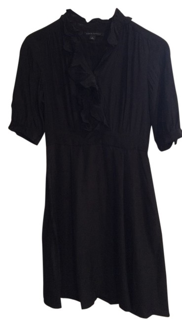 Banana Republic Silk A-line Ruffle Dress