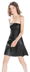 Zara Date Strapless Faux Leather Dress